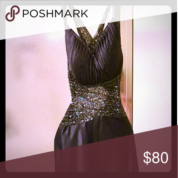 Evening gown Black sequin Dresses Prom