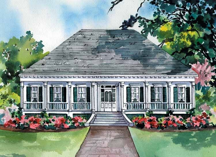 Eplans greek revival house plan southern plantation home for One story greek revival house plans