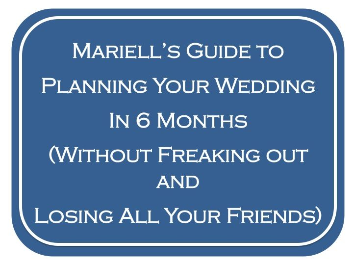 how to start planning a wedding in 6 months