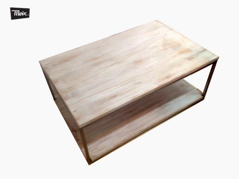 Mesa baja tablanc de moix sobre en madera de pino - Estructuras para mesas ...
