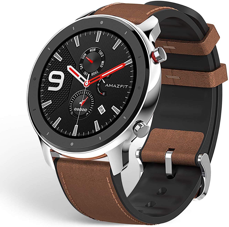 Amazfit Gtr 47mm Smart Watch Mit Ganztagiger Herzfrequenz Und Aktivitatserfassung Extrem Langer Akkulaufzeit Stainless Steel Deuts Herzfrequenz Elektroniken