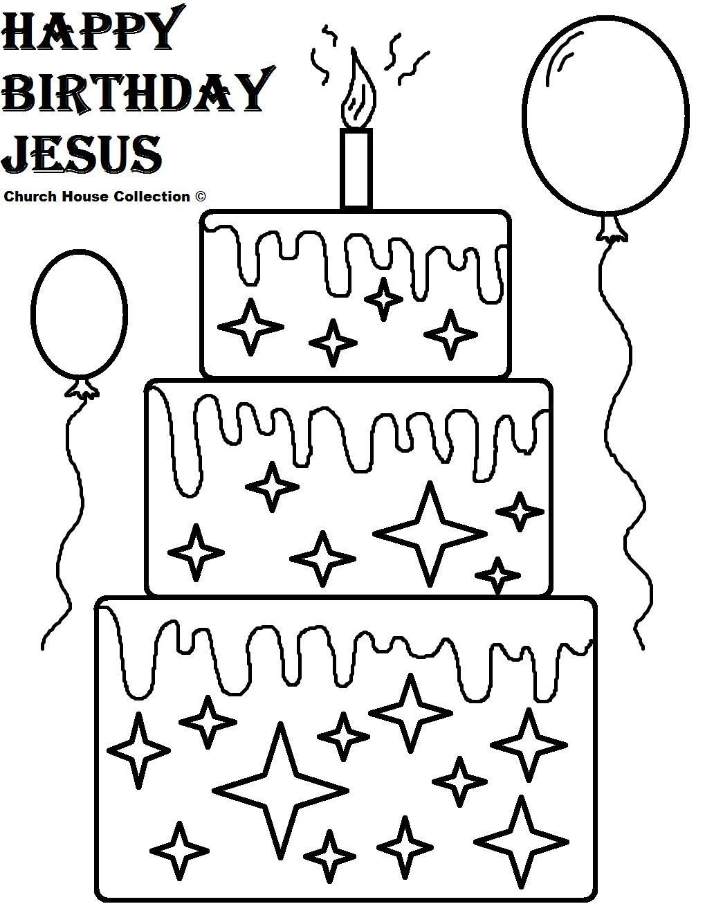 Happy Birthday Jesus Coloring Pages Kids Ministry Pinterest