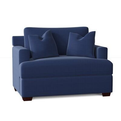 Roca Armchair Body Fabric: Spinnsol Navy, Throw Pillow Fabric: Spinnsol Navy