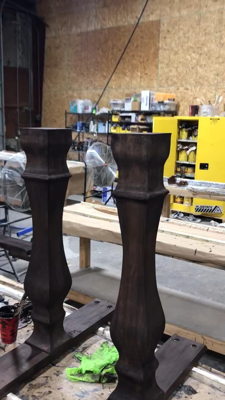 Camper Renovation Discover farmhouse table custom made