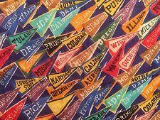 Vintage College Banners Berkshire Handkerchief Co  pennant