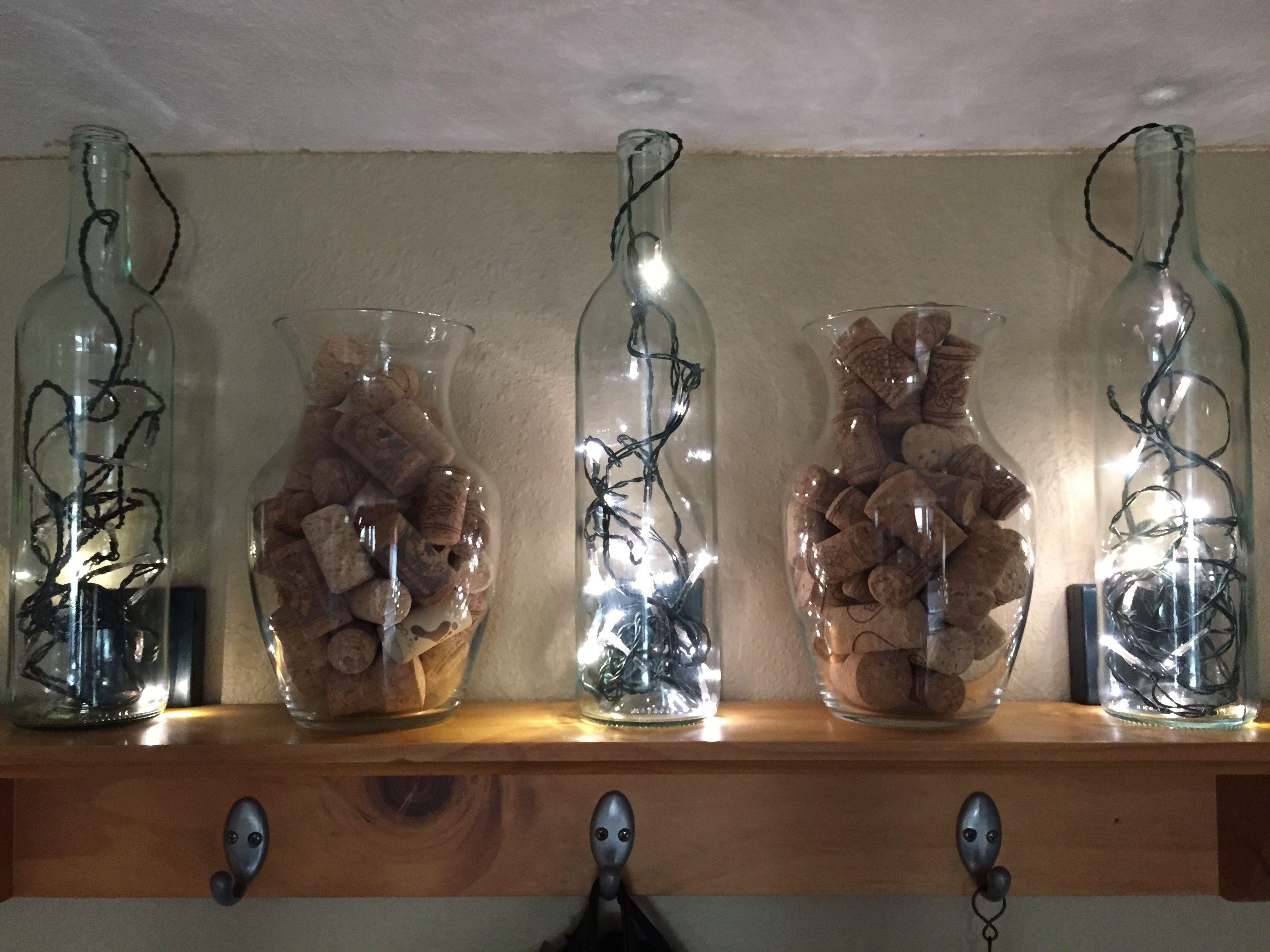 Lights in wine bottles and wine corks in vases places spaces lights in wine bottles and wine corks in vases reviewsmspy