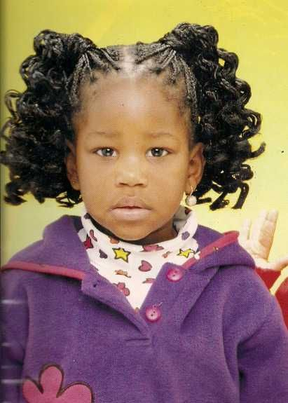 curly ponytails hairstyle african