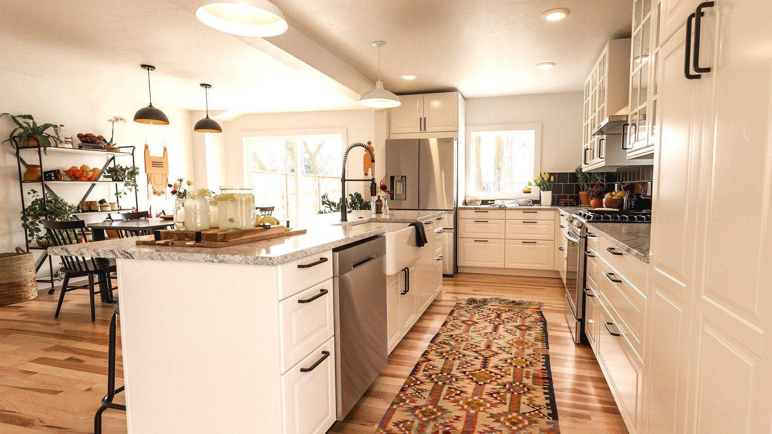 Timber U0026 Love   Boise Boys   White Cabinets, Great Floors, Lovely Rug In  Kitchen