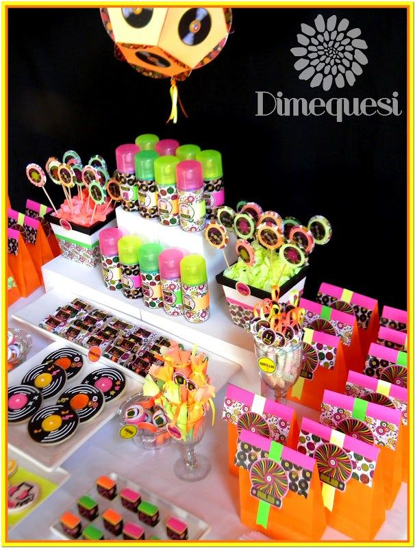 Neon Disco Party Theme Ideas Decoration