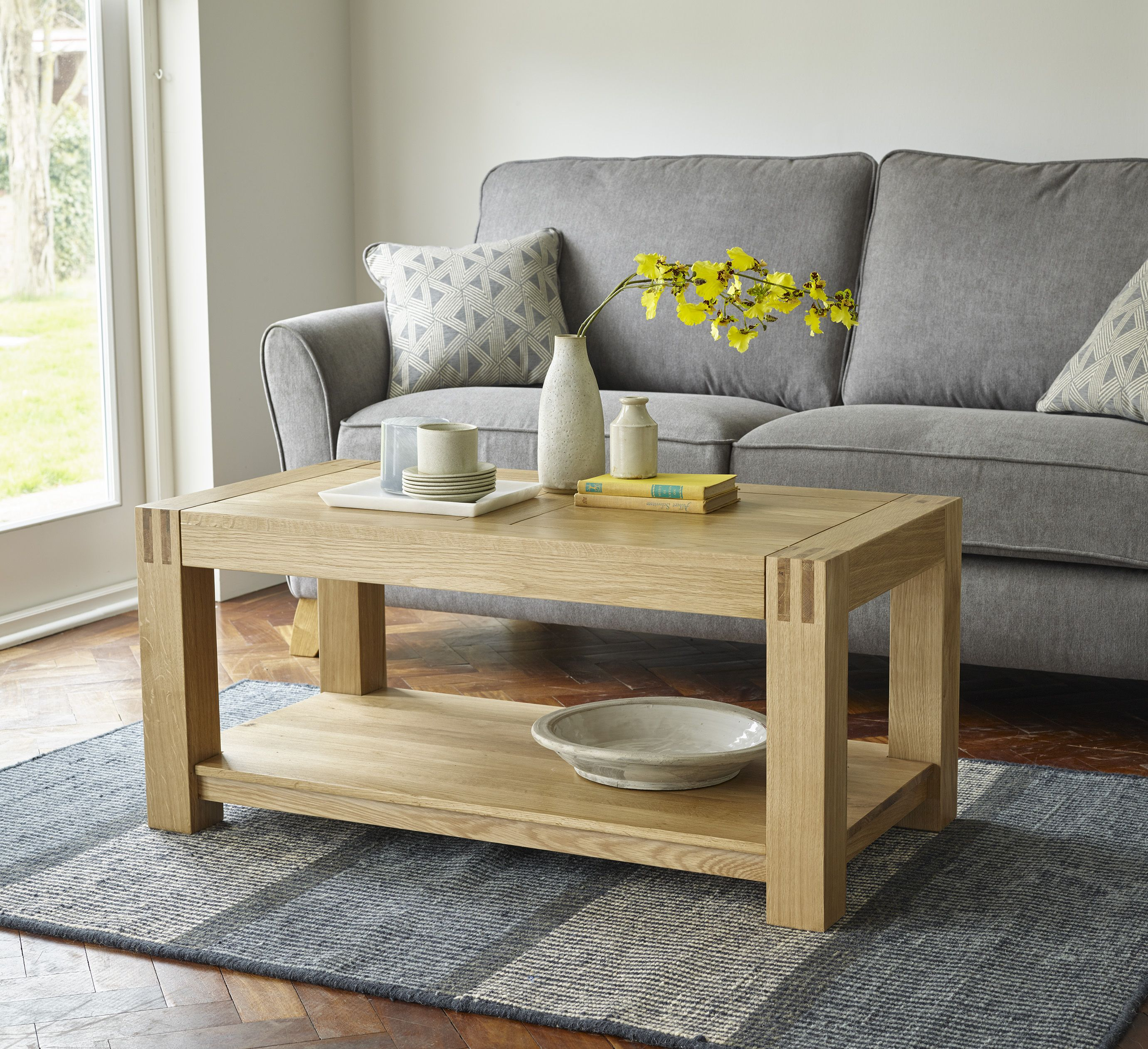 Olwen Oak Coffee Table Coffee Table For Small Living Room Coffee Table Small Space Oak Coffee Table [ 2000 x 1356 Pixel ]