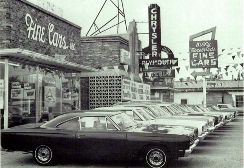 Car Dealership Chrysler Plymouth 1968 Vintage Car