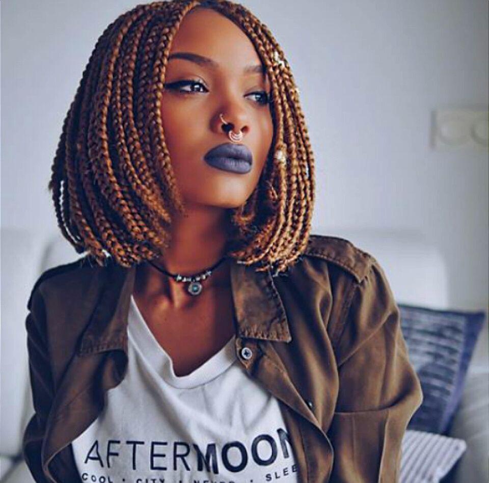 Strawbrownshortbobhairstylesforblackwomen african hair