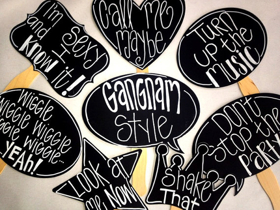 Song Lyric Photo Props With Phrases Photo Booth Props Via Etsy I