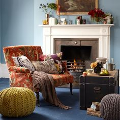 Wall Colors Housetohome Co Uk Living Rooms Room Ideas Blue Orange