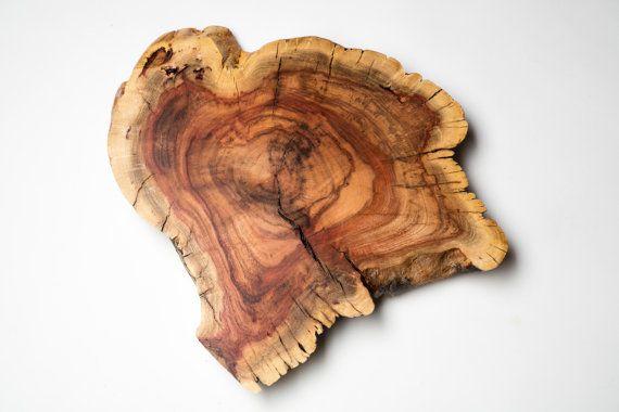 Carob Trivet Centerpiece Live Edge Round Wood Slab Carob Wood Projects Plans Wood