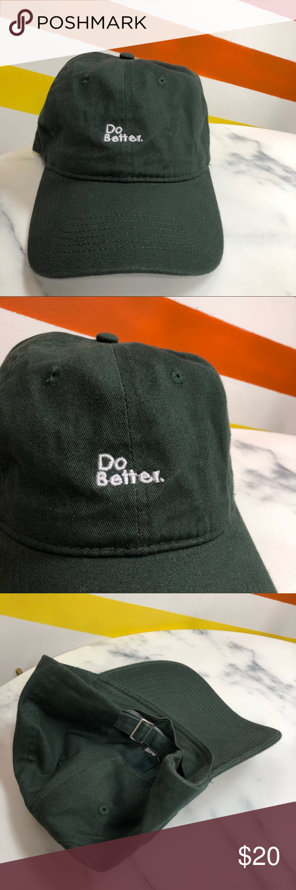 New Urban Outfitters Do Better Embroidered Hat Urban Outfitters Accessories Urban Outfitters Embroider Hat