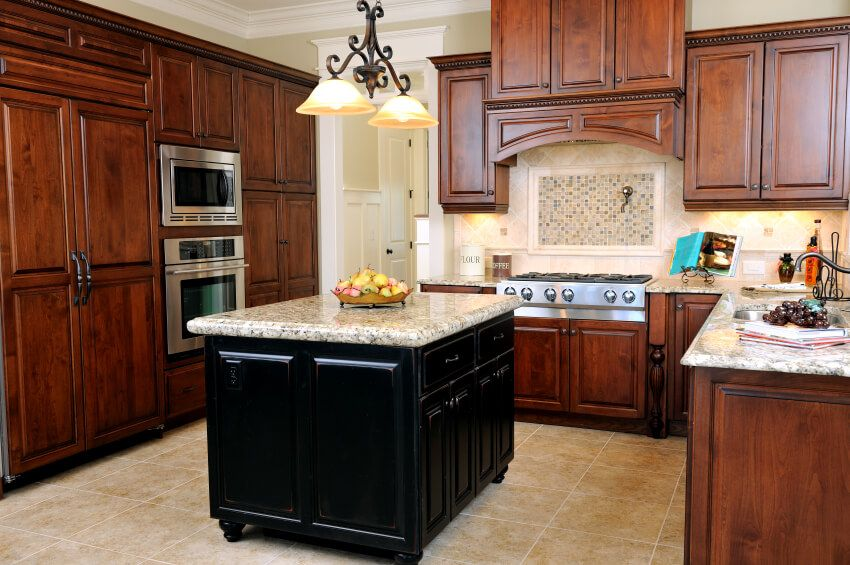 150 Ushape Kitchen Layout Ideas For 2018  Countertop Marbles Magnificent Cherrywood Kitchen Designs 2018