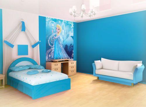 Wall Murals Wallpaper Coverings Decorations Non Woven Home Art Elsa Frozen 840VE | eBay