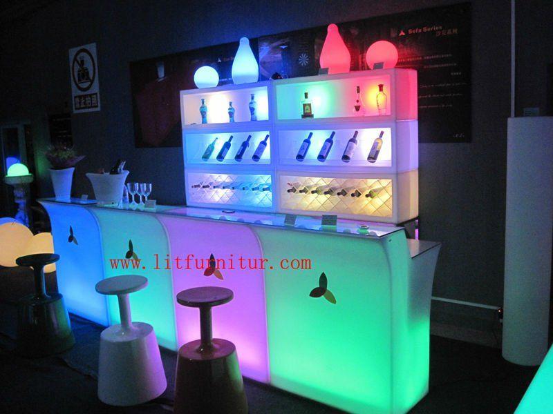 LED BAR FURNITURE/LED TABLE LIGHT/FUNKY FURNITURE/LED GLOWING BAR FURNITURE