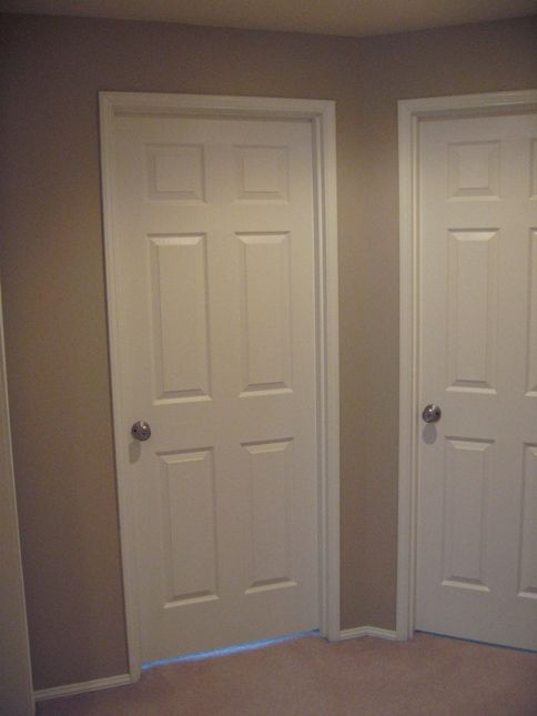 white trim white doors non white color for walls our first home. Black Bedroom Furniture Sets. Home Design Ideas