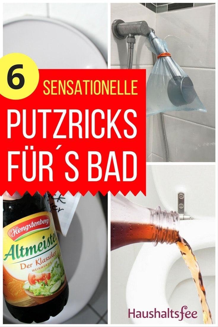 Sensationelle Putztricks Furs Badezimmer Haushaltsfee Tipps Haushalts Tipps