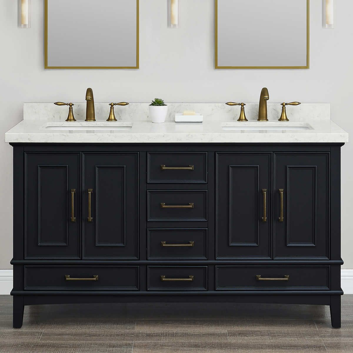 Parker Midnight 60 Inch Double Sink Vanity By Mission