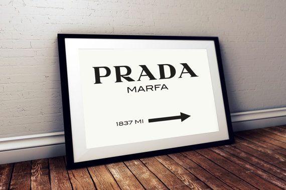 Prada Marfa Print Prada Marfa Art Prada by SweetPrintTypography