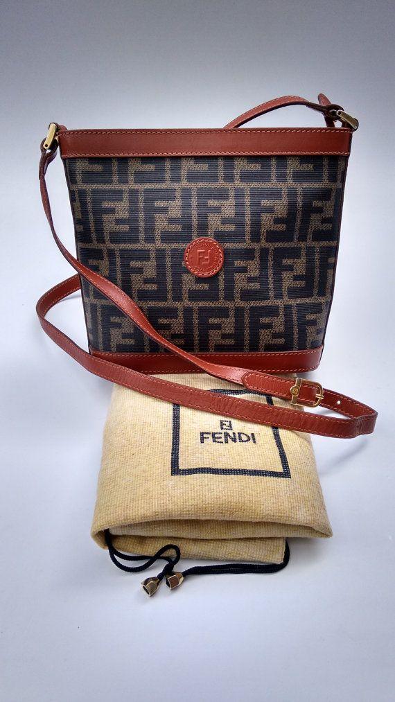 4b9ab2d3984 ... and black leather wallet 9aab8 adf96  where can i buy fendi vintage  zucca shoulder crossbody bag. by sophiashop123. designer pursescrossbody