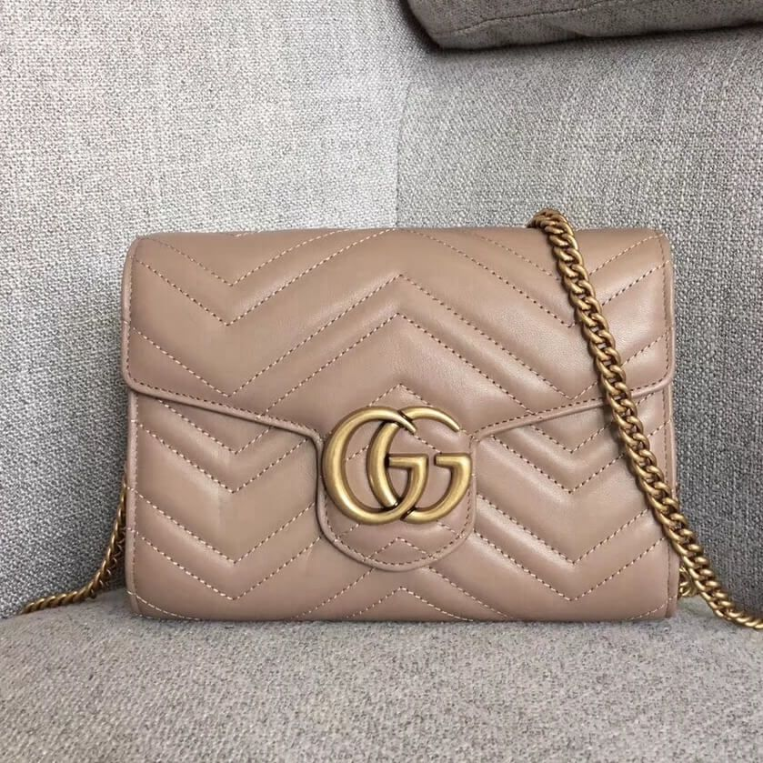 ff2b7278d Gucci GG Marmont Matelassé Mini Bag 474575 Beige 2018 | *BAGS* in ...