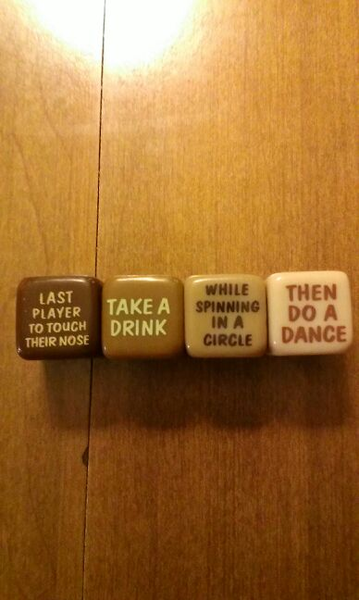 Dice Drinking Game Drinking games, Adult party games
