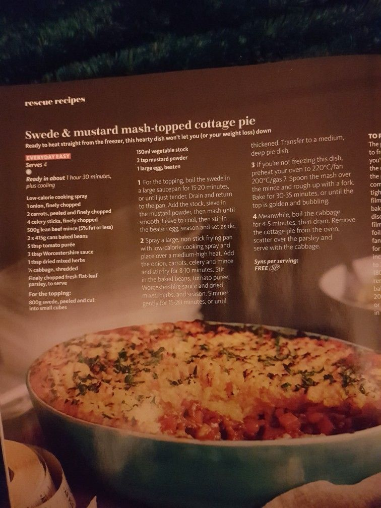 Slimming World Swede And Mustard Mash Topped Cottage Pie