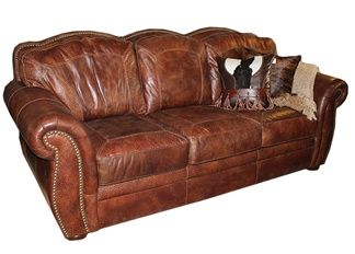 Aspen Artistic Leather Sofa Town Country