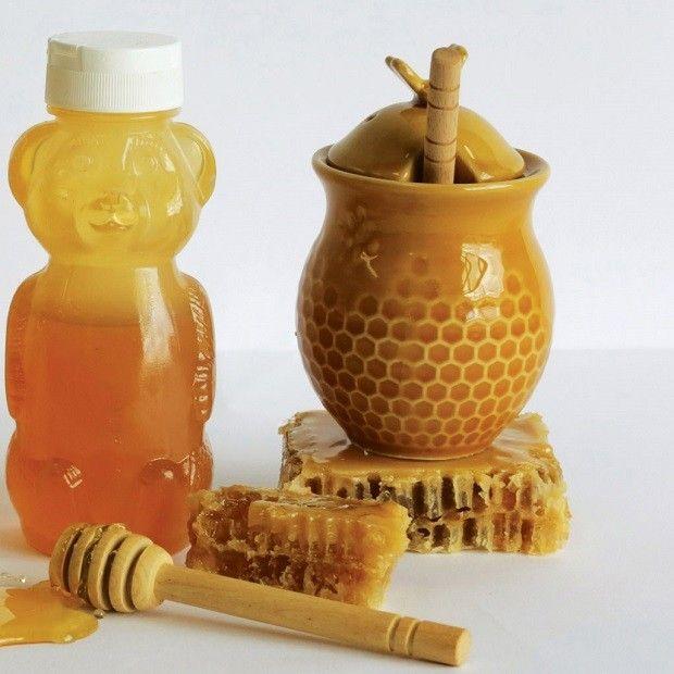 Honey Jar With Dipper