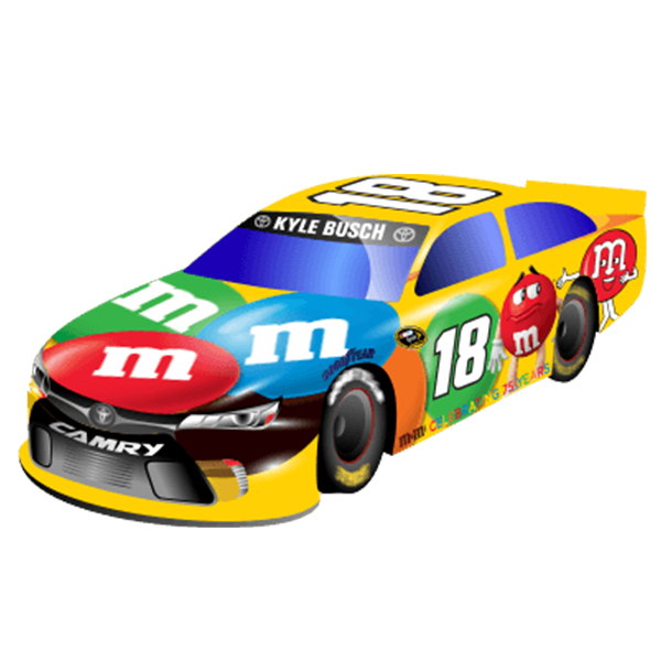 Cruise Into The Weekend With Kyle Busch S M M Paint Job By Sending His Car To Your Friends Using Nascar S New Emoji Garage Nascar News Kyle Busch Toy Car