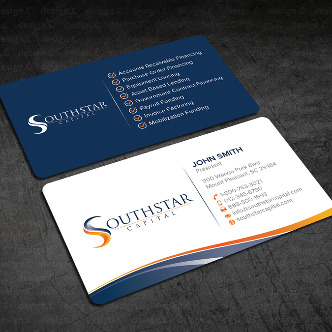 Boldpowerful business card needed for southstar capital by designc boldpowerful business card needed for southstar capital by designc colourmoves