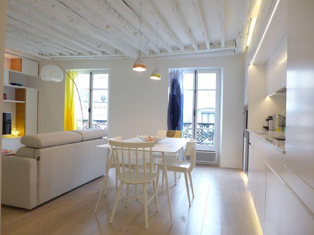 Aménagement salon design avec cuisine ouverte - salon sejour cuisine ouverte