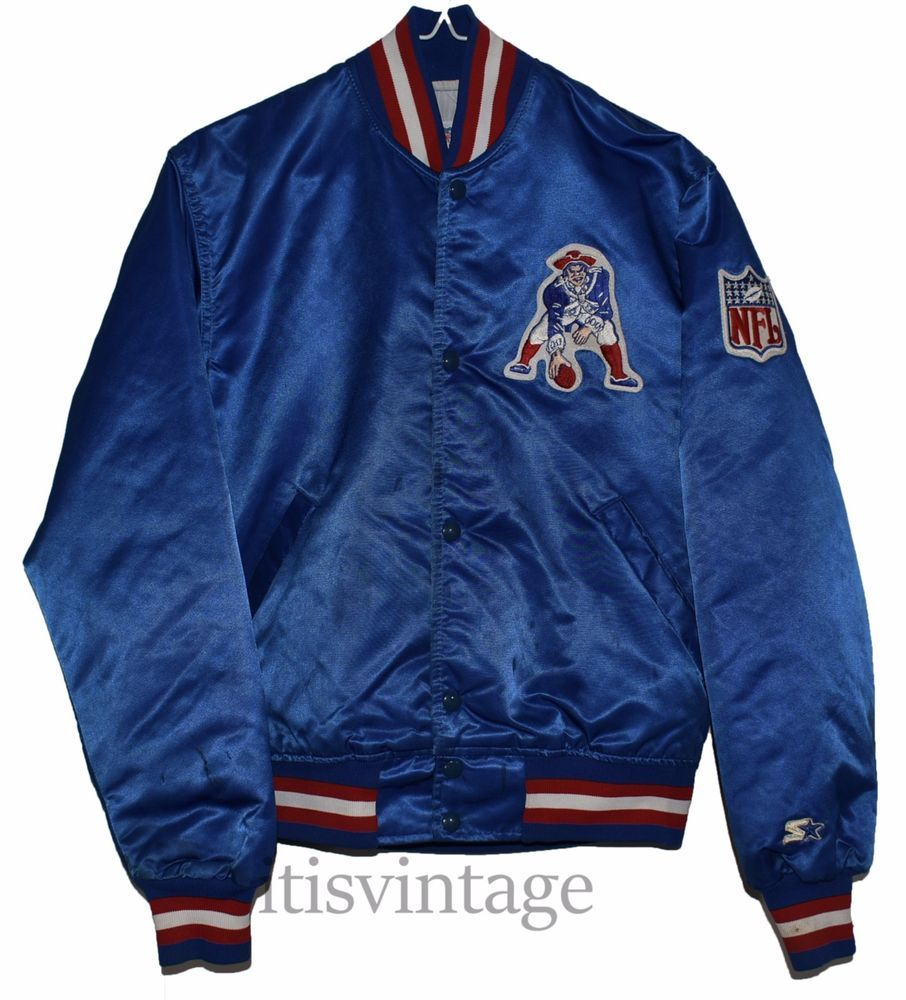 Vintage NFL New England Patriots Pro Line Starter Satin Snap Button Jacket  Small  f3bd34593