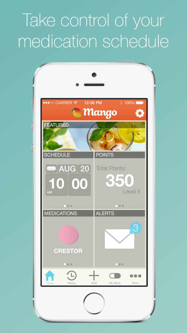 As Featured On Cnn Self Magazine And The Los Angeles Times Mango Health Makes It Fun And Easy To Manage You Health App Design Nutrition Website Health Goals