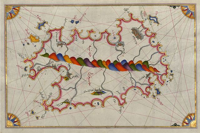 Map of the Island of Sardinia by Public Domain Review, via Flickr