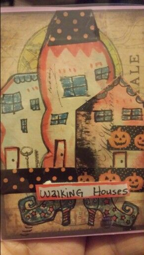 ATC. .Walking House ....Halloween themed. 2014
