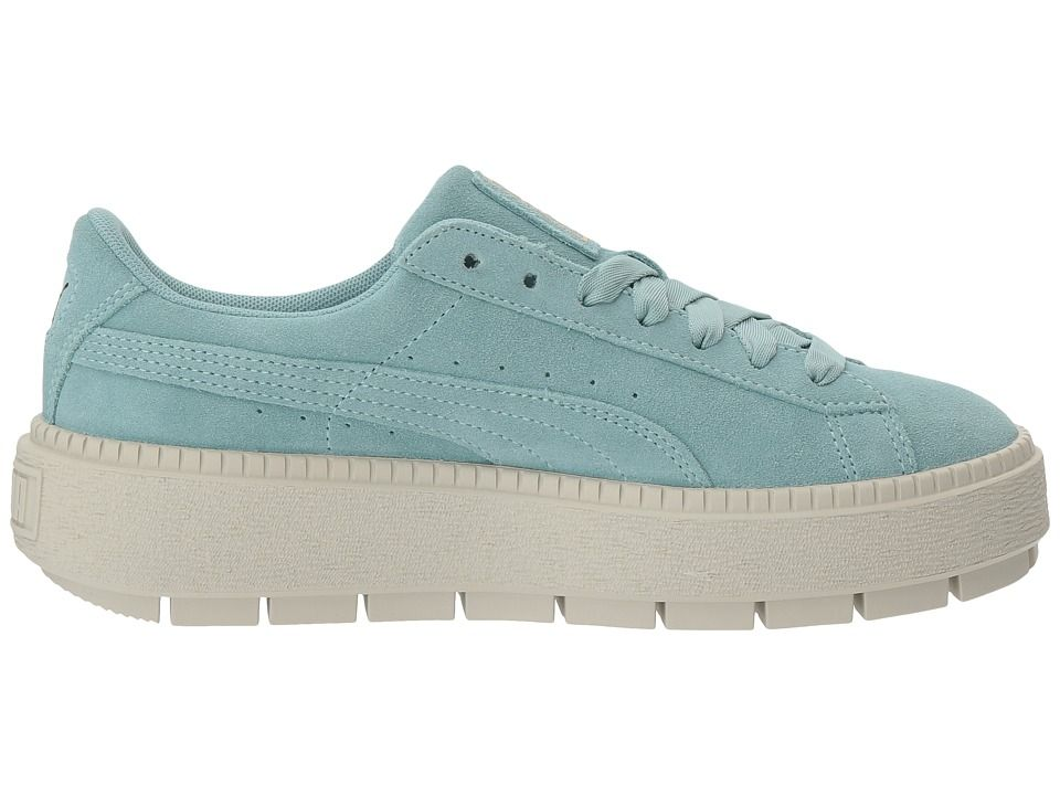 PUMA Suede Platform Trace Women's Shoes Aquifer/Blue Flower ...
