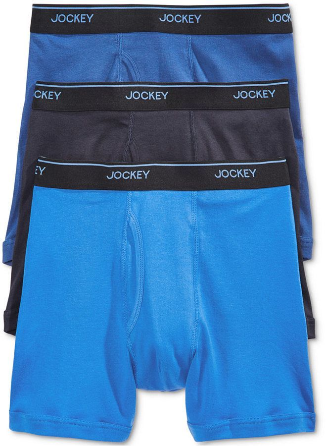 8f78d8ccd43a Jockey Men 3 Pack Essential Fit Staycool + Cotton Boxer Briefs ...