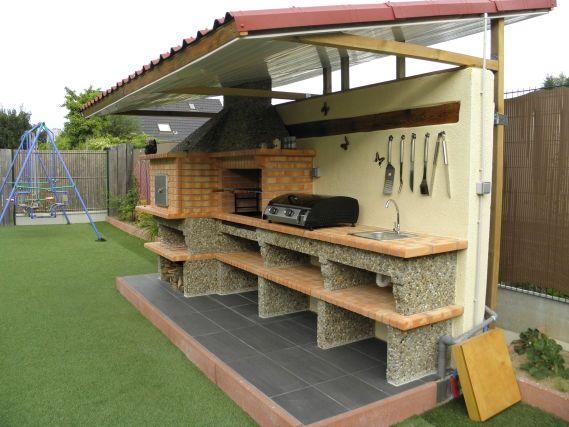 comment construire un barbecue exterieur u2026 Pinteresu2026 - beton cellulaire exterieur barbecue