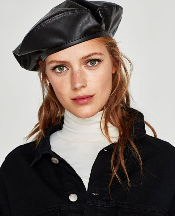 c27201dc Image 5 of FAUX LEATHER BERET from Zara $20 | 2018 in 2019 | Beret ...