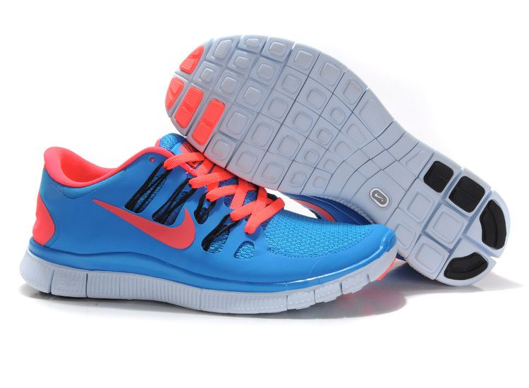 Nike Free 5.0 Blue Hero Atomic Red Black Blue Tint Women's Shoes #cheap # nike