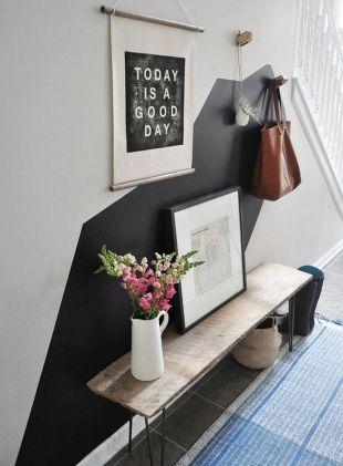 Décoration murale noire pour entrée | Entrée maison | Pinterest