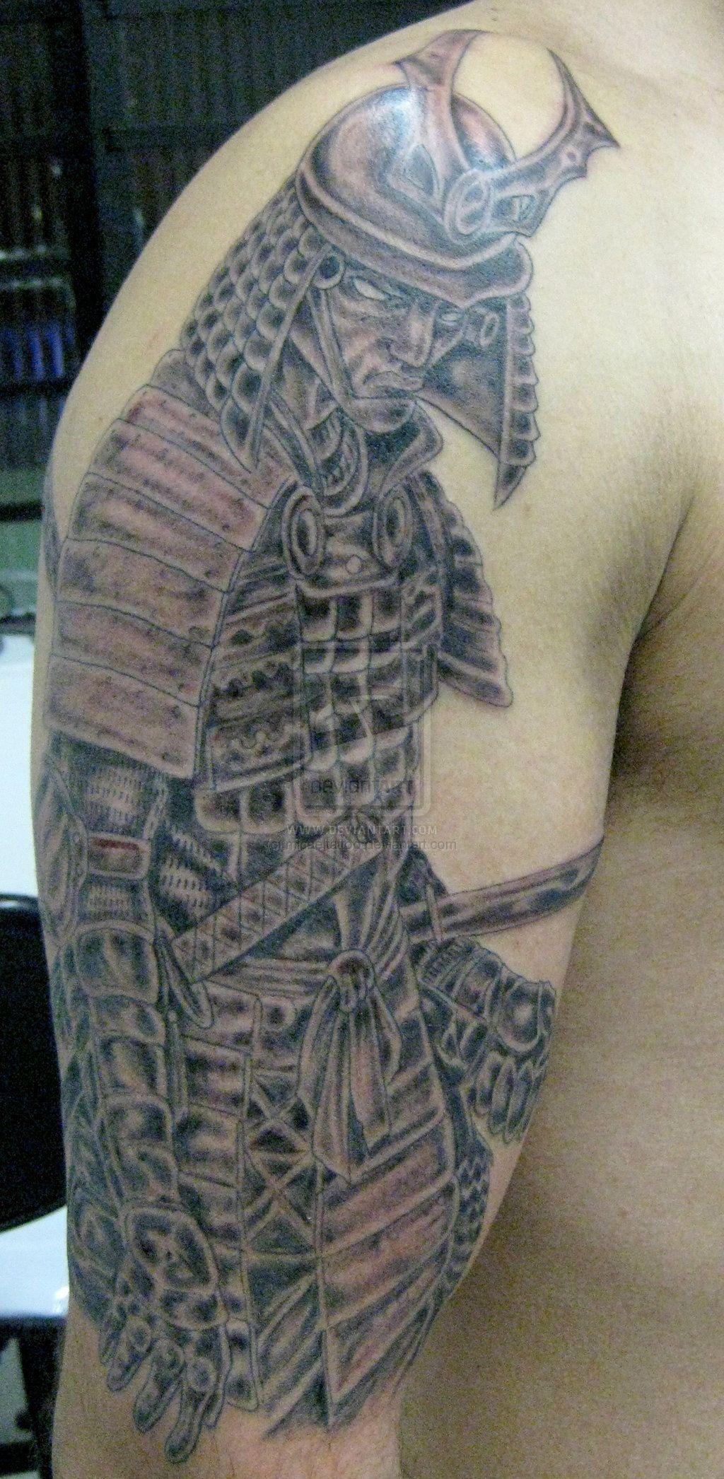 Samurai warrior tattoo full and half sleeve tattoos for Japanese war tattoos