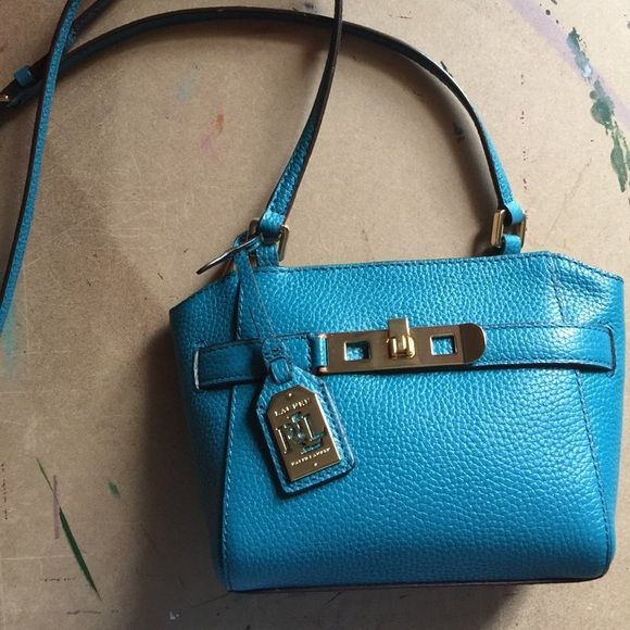 Mini Ralph Lauren crossbody Bought at Tj Maxx, great mini crossbody bag in Turk blue. It will come with the original snipped tag. Ralph Lauren Bags Crossbody Bags