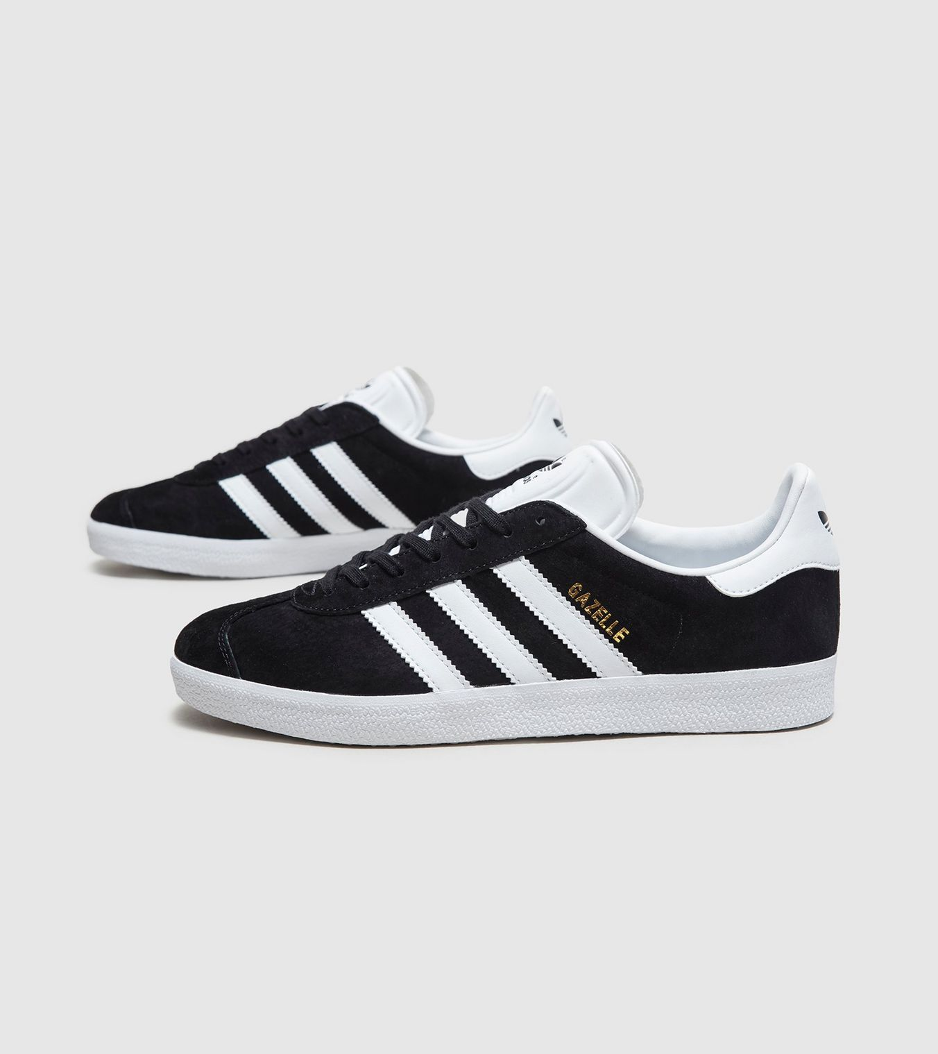 WHITE Adidas Gazelle Retro Classic Fashion Casual in BLACK