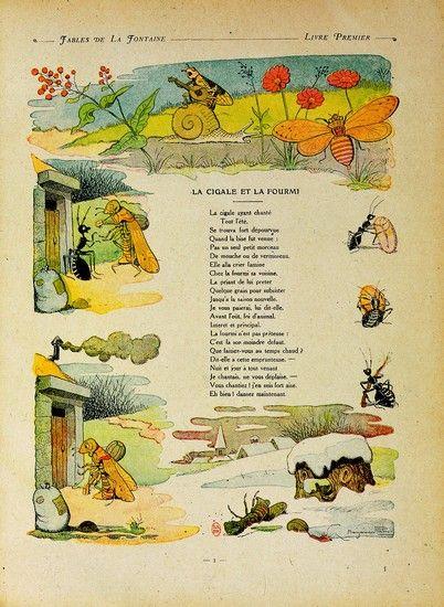 Jean de la fontaine la cigale et la fourmi - Illustration la cigale et la fourmi ...